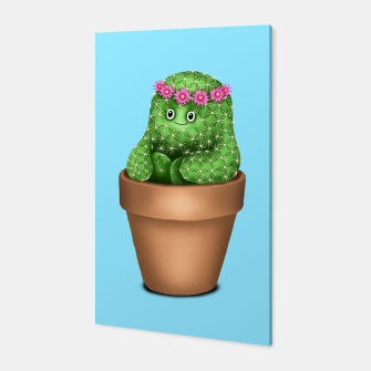 Miniature de image de Cute Cactus (Blue Background) Canvas, Live Heroes