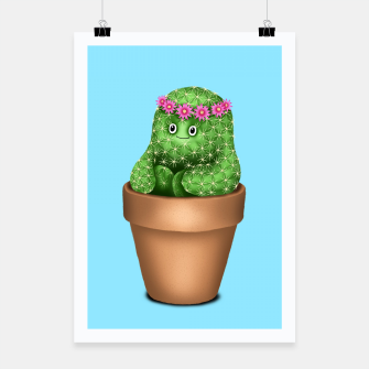 Miniaturka Cute Cactus (Blue Background) Poster, Live Heroes