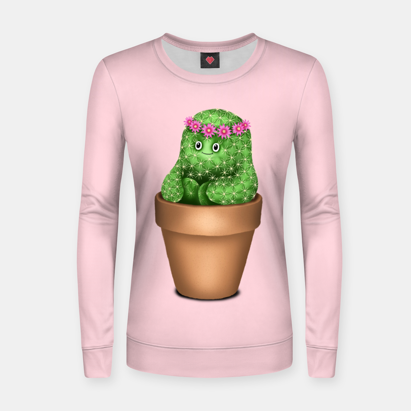 Image de Cute Cactus (Pink Background) Women sweater - Live Heroes