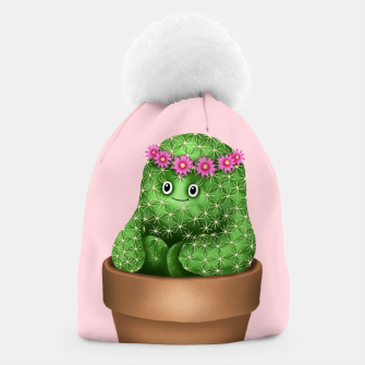 Thumbnail image of Cute Cactus (Pink Background) Beanie, Live Heroes
