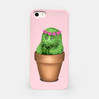 Cute Cactus (Pink Background) iPhone Case miniature