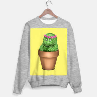 Miniature de image de Cute Cactus (Yellow Background) Sweater regular, Live Heroes