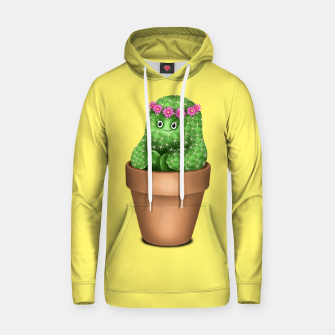 Cute Cactus (Yellow Background) Hoodie miniature