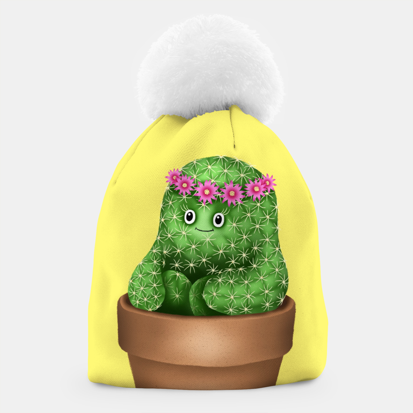 Image de Cute Cactus (Yellow Background) Beanie - Live Heroes
