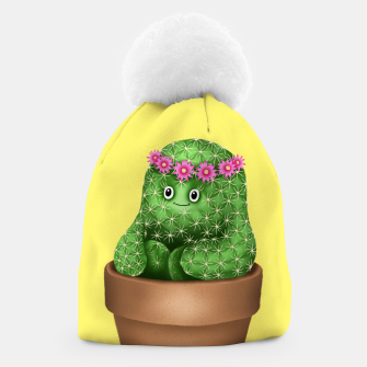 Cute Cactus (Yellow Background) Beanie miniature