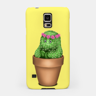 Cute Cactus (Yellow Background) Samsung Case miniature