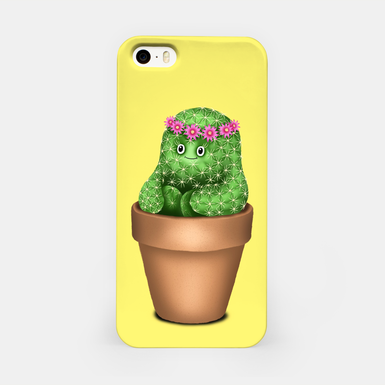 Image de Cute Cactus (Yellow Background) iPhone Case - Live Heroes