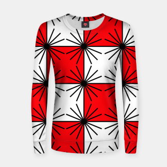 Thumbnail image of Abstract geometric pattern - red, black and white. Women sweater, Live Heroes