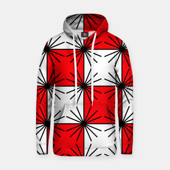 Thumbnail image of Abstract geometric pattern - red, black and white. Hoodie, Live Heroes