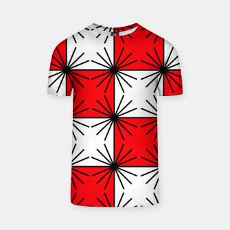 Thumbnail image of Abstract geometric pattern - red, black and white. T-shirt, Live Heroes