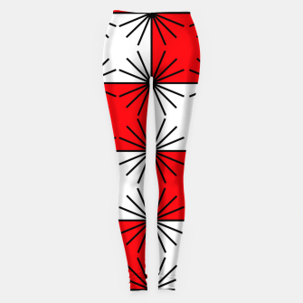 Thumbnail image of Abstract geometric pattern - red, black and white. Leggings, Live Heroes