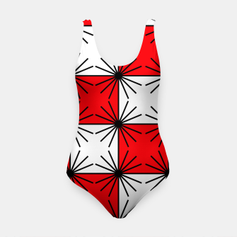 Thumbnail image of Abstract geometric pattern - red, black and white. Swimsuit, Live Heroes