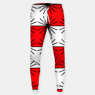 Thumbnail image of Abstract geometric pattern - red, black and white. Sweatpants, Live Heroes