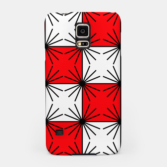 Thumbnail image of Abstract geometric pattern - red, black and white. Samsung Case, Live Heroes