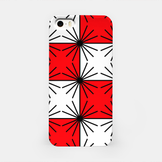 Thumbnail image of Abstract geometric pattern - red, black and white. iPhone Case, Live Heroes
