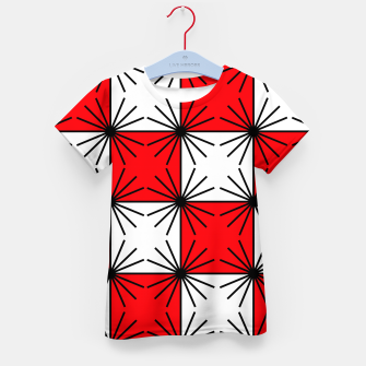 Thumbnail image of Abstract geometric pattern - red, black and white. Kid's t-shirt, Live Heroes