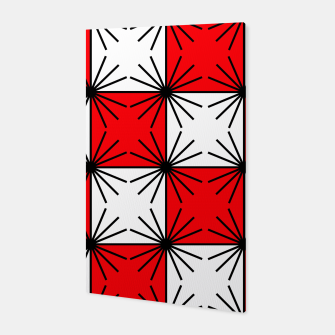 Thumbnail image of Abstract geometric pattern - red, black and white. Canvas, Live Heroes