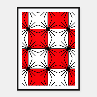 Thumbnail image of Abstract geometric pattern - red, black and white. Framed poster, Live Heroes