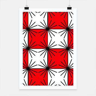 Thumbnail image of Abstract geometric pattern - red, black and white. Poster, Live Heroes