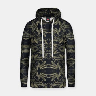 Miniatur Stylized Golden Ornate Nature Motif Print Hoodie, Live Heroes