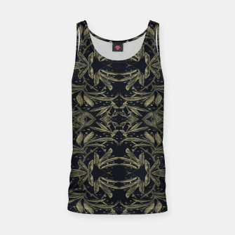 Miniatur Stylized Golden Ornate Nature Motif Print Tank Top, Live Heroes