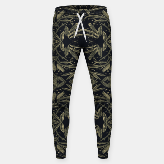 Thumbnail image of Stylized Golden Ornate Nature Motif Print Sweatpants, Live Heroes