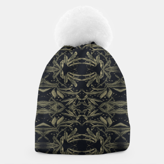 Miniatur Stylized Golden Ornate Nature Motif Print Beanie, Live Heroes