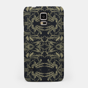Miniatur Stylized Golden Ornate Nature Motif Print Samsung Case, Live Heroes