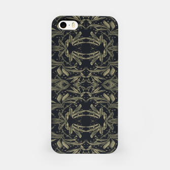 Miniatur Stylized Golden Ornate Nature Motif Print iPhone Case, Live Heroes