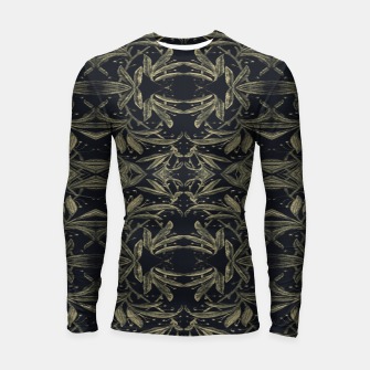 Thumbnail image of Stylized Golden Ornate Nature Motif Print Longsleeve rashguard , Live Heroes