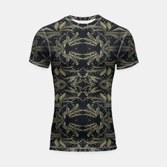 Thumbnail image of Stylized Golden Ornate Nature Motif Print Shortsleeve rashguard, Live Heroes