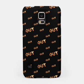 Miniatur Out Word Motif Print Pattern Samsung Case, Live Heroes