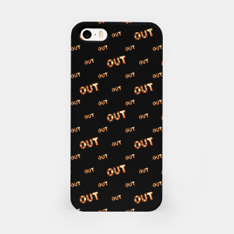 Miniatur Out Word Motif Print Pattern iPhone Case, Live Heroes
