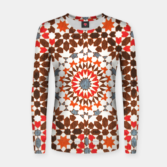 Thumbnail image of Geometric Traditional Moroccan Islamic Artwork Women sweater, Live Heroes