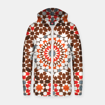Thumbnail image of Geometric Traditional Moroccan Islamic Artwork Zip up hoodie, Live Heroes