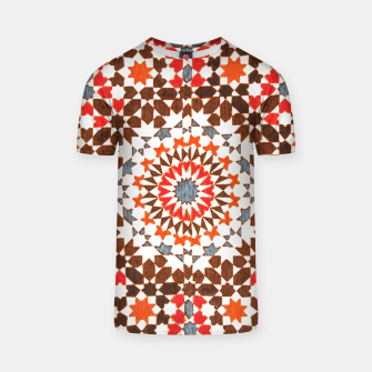 Thumbnail image of Geometric Traditional Moroccan Islamic Artwork T-shirt, Live Heroes