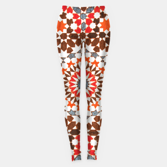 Thumbnail image of Geometric Traditional Moroccan Islamic Artwork Leggings, Live Heroes