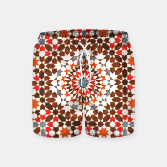 Thumbnail image of Geometric Traditional Moroccan Islamic Artwork Swim Shorts, Live Heroes