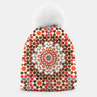 Thumbnail image of Geometric Traditional Moroccan Islamic Artwork Beanie, Live Heroes