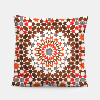 Thumbnail image of Geometric Traditional Moroccan Islamic Artwork Pillow, Live Heroes