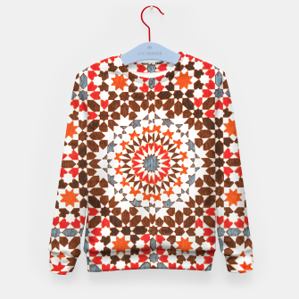Thumbnail image of Geometric Traditional Moroccan Islamic Artwork Kid's sweater, Live Heroes