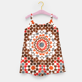 Thumbnail image of Geometric Traditional Moroccan Islamic Artwork Girl's dress, Live Heroes