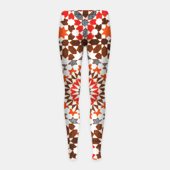 Thumbnail image of Geometric Traditional Moroccan Islamic Artwork Girl's leggings, Live Heroes