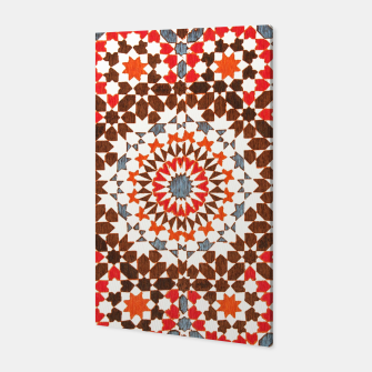 Thumbnail image of Geometric Traditional Moroccan Islamic Artwork Canvas, Live Heroes