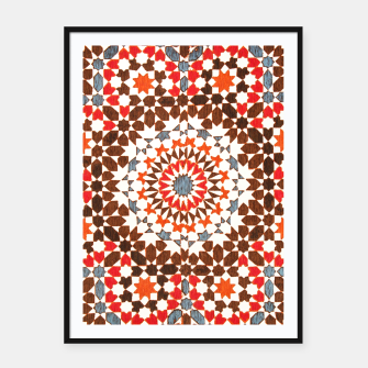 Thumbnail image of Geometric Traditional Moroccan Islamic Artwork Framed poster, Live Heroes