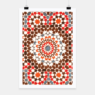 Thumbnail image of Geometric Traditional Moroccan Islamic Artwork Poster, Live Heroes