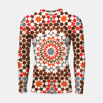 Thumbnail image of Geometric Traditional Moroccan Islamic Artwork Longsleeve rashguard , Live Heroes