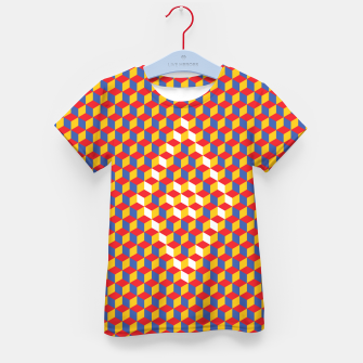 Thumbnail image of Abstract Blocks Kid's t-shirt, Live Heroes