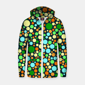 Miniaturka Abstract Nature Circles Zip up hoodie, Live Heroes