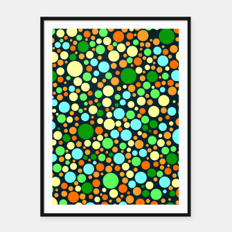 Miniatur Abstract Nature Circles Framed poster, Live Heroes